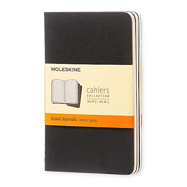 Moleskine Ruled Cahier - Black Cover (3 Set) The Uncertainty of Doing 2004 Multiple copy pack