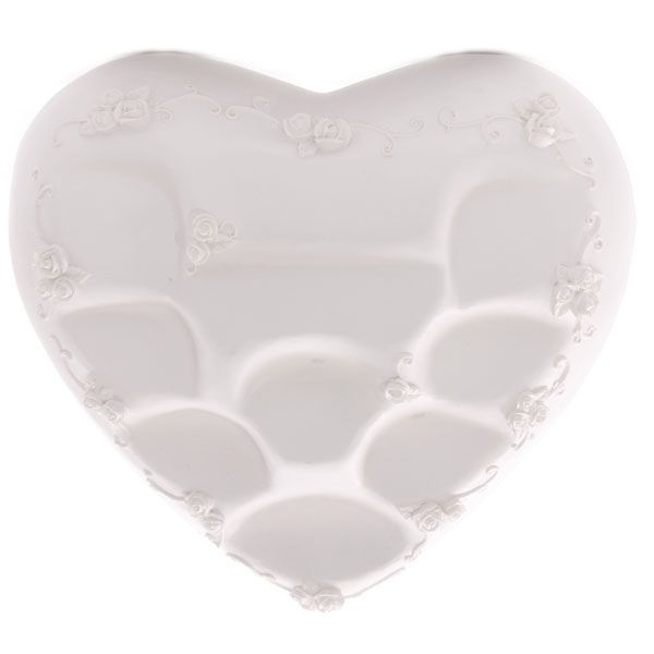 White Heart Shaped Tiered Display Stand