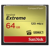 SanDisk CF Extreme 64GB, 120MB/s read speed, 85MB/s write speed