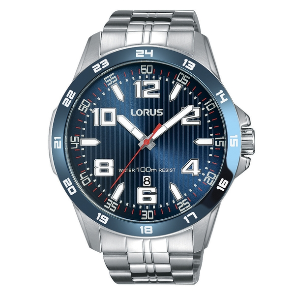 Lorus RH901GX9 Mens Sports Bracelet Watch with Blue Dial