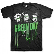Green Day Drips Mens Black T Shirt Small
