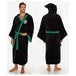 Slytherin Harry Potter Fleece Bathrobe Black Green - Image 2