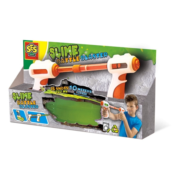SES Creative - Children's Slime Battle Blaster Toy (Multi-colour)