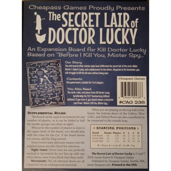 Kill Doctor Lucky Expansion Secret Lair of Doctor Lucky Board Game