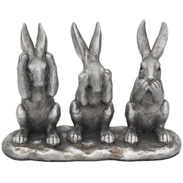 Reflections Silver See Speak & Hear No Evil Hares