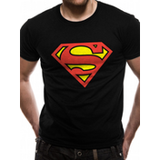 Superman - Logo Men's Large T-Shirt - Black