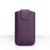 YouSave Lichee PU Leather Pouch (L) - Purple
