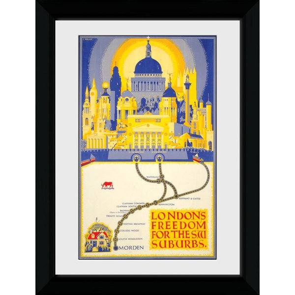 Transport For London Londons Freedom 50 x 70 Framed Collector Print