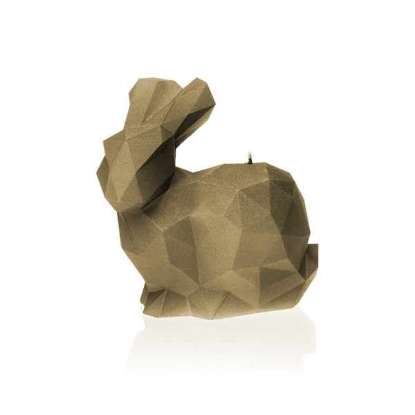 Golden Brown Large Rabbit Candle
