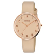Lorus RG220SX9 Ladies Beige Dial And Leather Strap Watch