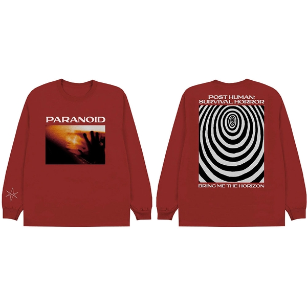 Bring Me The Horizon - Paranoid Unisex Medium T-Shirt - Red