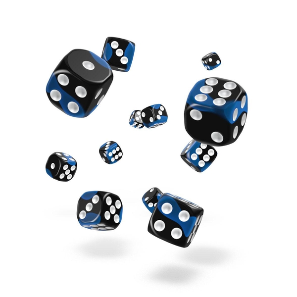 Oakie Doakie Dice D6 Glow in the Dark Deep Ocean