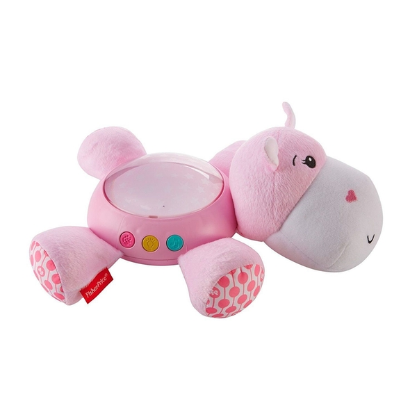 Fisher Price -  Hippo Plush Snuggle Projection Soother (Pink)