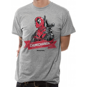 Deadpool - Chimichanga Point Men's Large T-Shirt - Grey