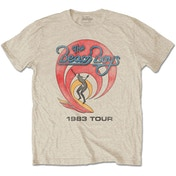 The Beach Boys - 1983 Tour Men's XX-Large T-Shirt - Sand
