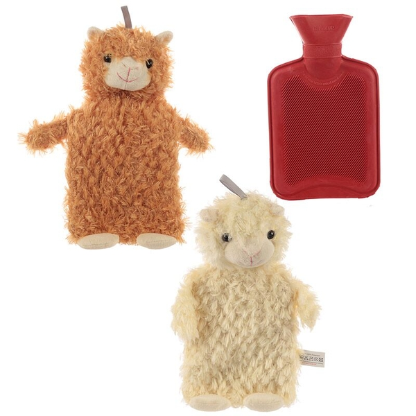 Llama Plush Hot Water Bottle and Cover (1 Random Supplied)