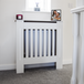 White Wooden Radiator Cover (Small)   M&W - Image 2