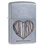 Zippo Kurt Cobain Heart Chrome Regular Windproof Lighter