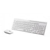 Rapoo X8100 2.4GHz Wireless Desktop Combo Set White UK Layout