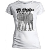 One Direction Group Standing Blk & White Skinny TS: Small